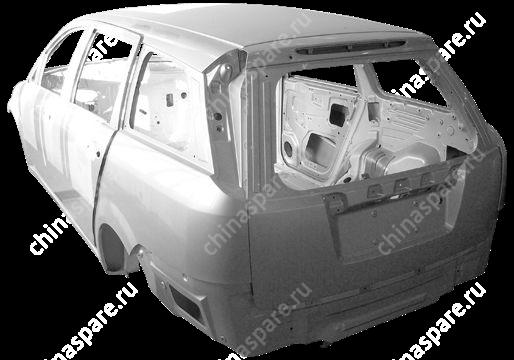 B145000100BADY Car white body assy with sunfoof Chery Cross Eastar