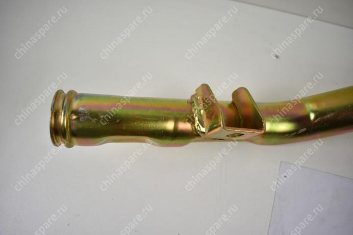 Патрубок подводящий верхний (Металл) Hafei Simbo BYD F3